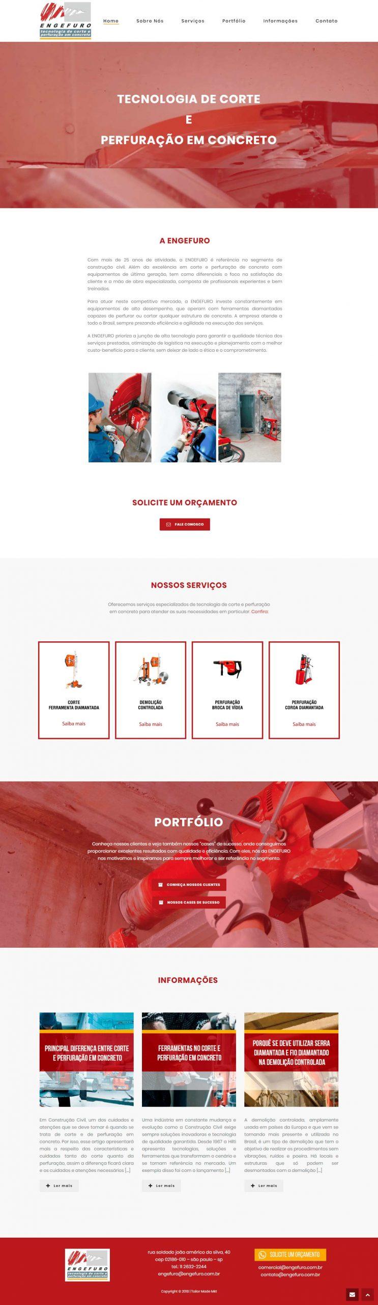 criação de site desenvolvimento de site Engefuro